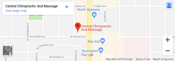 Spokane WA Chiropractic Map